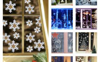 Трафареты на окна к Новому году: готовые шаблоны для потрясающего декора