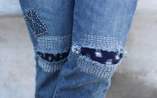 Как красиво зашить дырку на джинсах, чтобы не было видно швов и заплатки