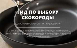 Как выбрать сковороду с антипригарным покрытием для газовой плиты: виды сковородок, признаки качественного изделия