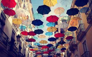 История происхождения дизайнерских зонтов.